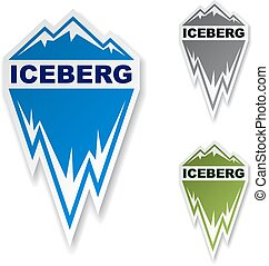 winter iceberg ice mountain sticker - illustration for the...