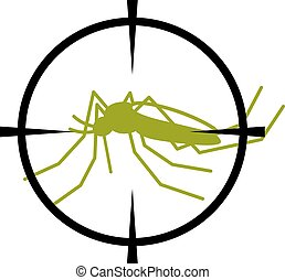 crosshair focused mosquito symbol - illustration for the web