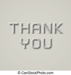 Thank you dotted inscription - illustration for the web