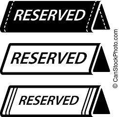 restaurant reserved table sign black icons - illustration...