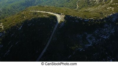 4K Aerial, Flight over an epic Andalusian landscape with...