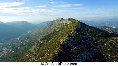 4K, Luftaufnahmen, flug, aus, ein, episch, Andalusian,...