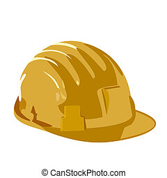 Helmet is isolated on white background - Vector illustration...