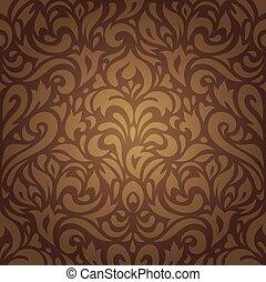 Floral brown vintage background
