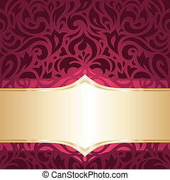 Floral red and gold wallpaper