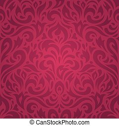 Floral red holiday luxury wallpaper