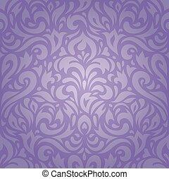 Floral violet vintage wallpaper