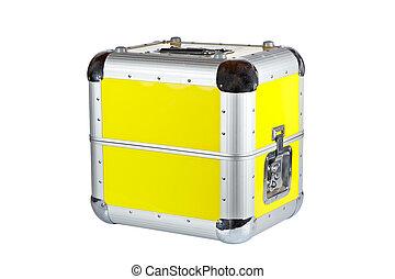 Disc Jockey suitcase - Disc Jockey box isolated on white...