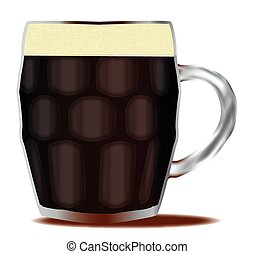 Traditional Pint Of Beer - A traditional handled and dimpled...