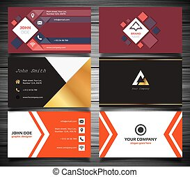Modern business card set Vector illustration, EPS 10