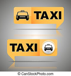 Two taxi banners Vector illustration, EPS 10