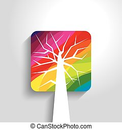 abstract tree vector