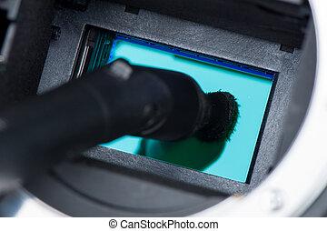 cleaning camera sensor - cleaning dirty camera sensor (CCD...