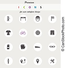 Bycicle simply icons - Bycicle vector icons for web sites...