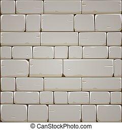 Stone Block Wall - Closeup of stone block wall. Vector...