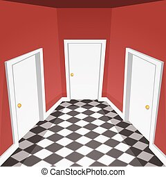 House Hallway - Cartoon vector illustration of the house...
