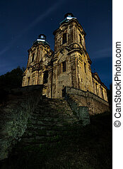 The Church of the Visitation at the full moon - The Church...