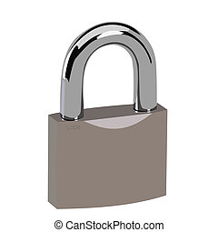 Realistic illustration lock