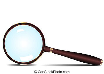 Magnifying glass icon - vector