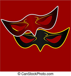 Realistic illustration of carnivals mask