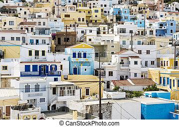 """The village """"Menetes"""" on Karpathos island, Greece"""