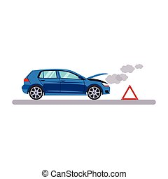 Car and Transportation Breakdown Vector Illustration - Car...