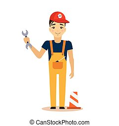 Mechanic Vector Illustration.