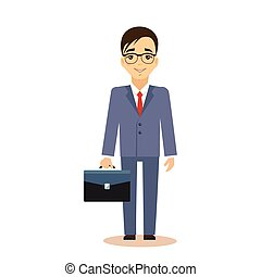 Businessman Vector Illustration.