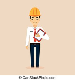 Engineer Vector Illustration.