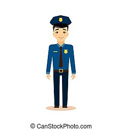 Policeman Vector Illustration.