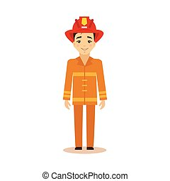 Fireman Vector Illustration.