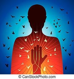 spiritual lady vector