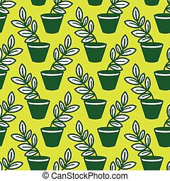 lvector pattern with plants