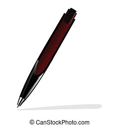 Realistic illustration of red pen