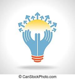 reach idea, a human think