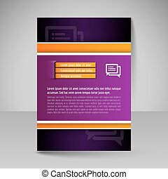 Template of flyer for business brochures, presentations,...