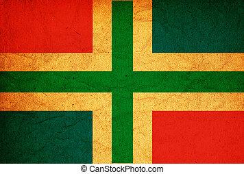 groningen region flag - old vintage flag of groningen region...
