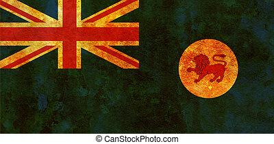 tasmania territory flag - old vintage flag of tasmania...