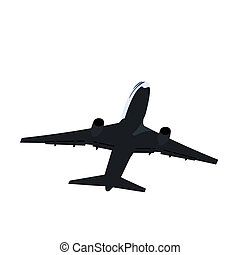 Realisic illustration airplane - vector