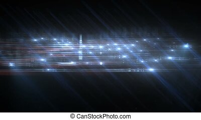 Title BG Abstract Particle Effect Flashing Light VJ...