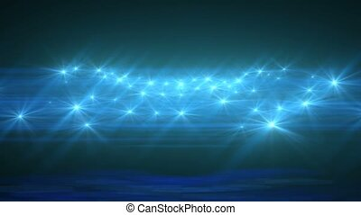 Light Blue Abstract Particle Effect Flashing Light VJ...