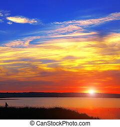 sky sunset sun landscape