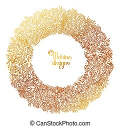 Coral  graphic wreath