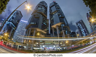 The Hong Kong Corporate Buildings night timelapse hyperlapse...
