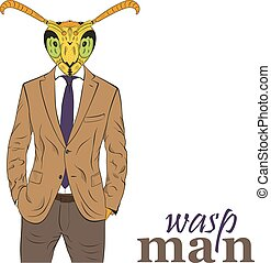 Cartoon character wasp