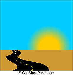 Road to rising - vector