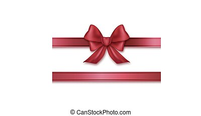Burgundy ribbon and bow