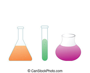 Colorful test tubes. Vector illustration