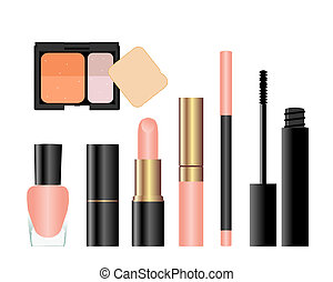 Collection of female accessories of beauty. Vector