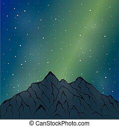 night mountain range - Vector illustration of a mountain...